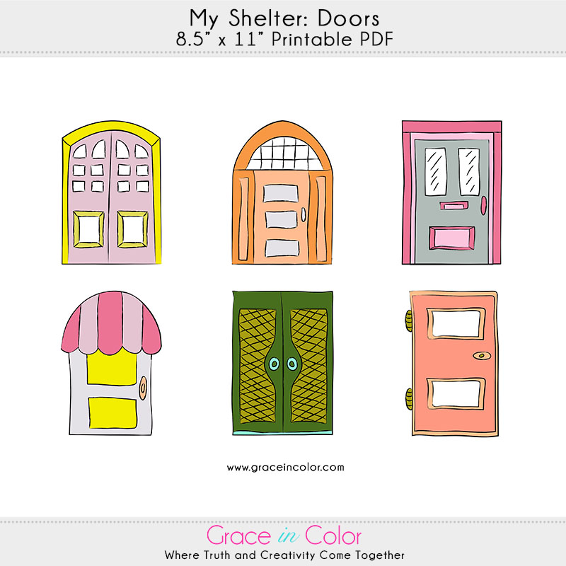 My Shelter printable FREEBIE by Grace in Color