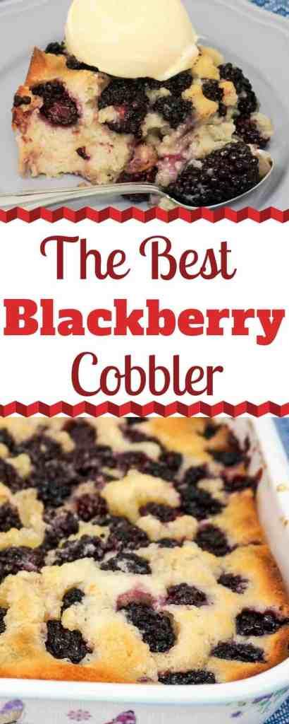 The Best Blackberry Cobbler