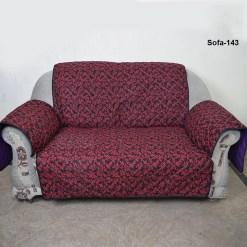 Reversible red black sofa coat