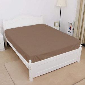 jersey fitted sheet light brown