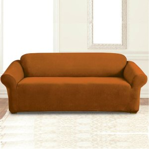 jersey sofa cover brown