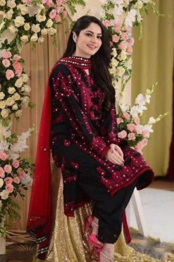 neelam munir latest lawn collection 2021 fancy dress with mirror work