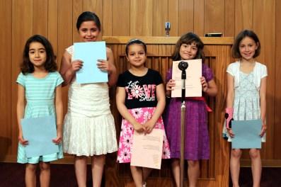 Girls Class Recite Poem