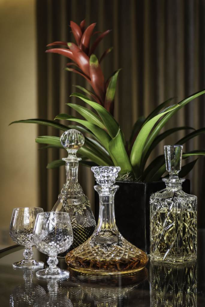 Enjoy an after dinner drink from the liqueur tray