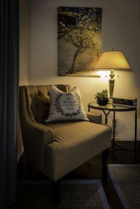 Master bedroom reading nook