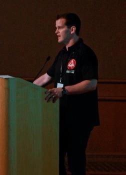 Marco Joca speaking at last GB Conference held in California.