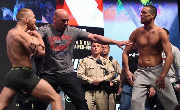 Ira na pesagem de Conor McGregor e Nate Diaz Foto Josh Hedges UFC