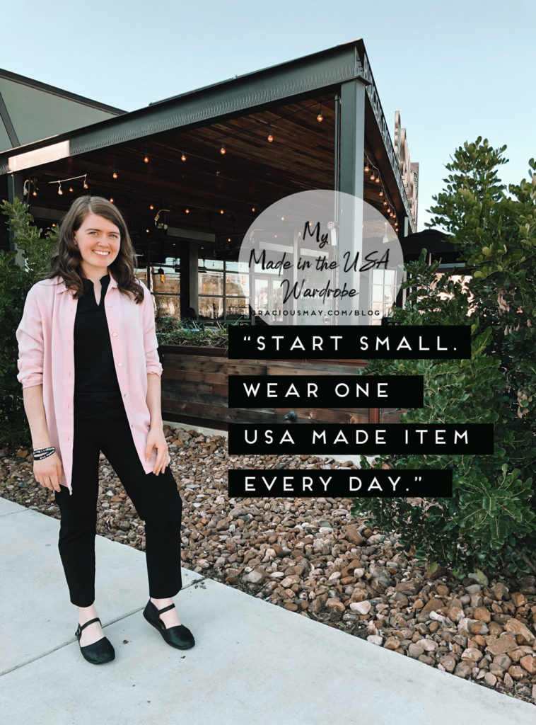 Gracious May My Made in the USA Wardrobe Movement Wear Made in the USA Shoes and Clothes