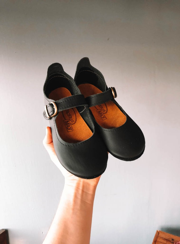 Simple Leather Flats for Girls Children's shoes Made in the USA