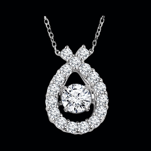 White Gold Diamond Moving Necklace
