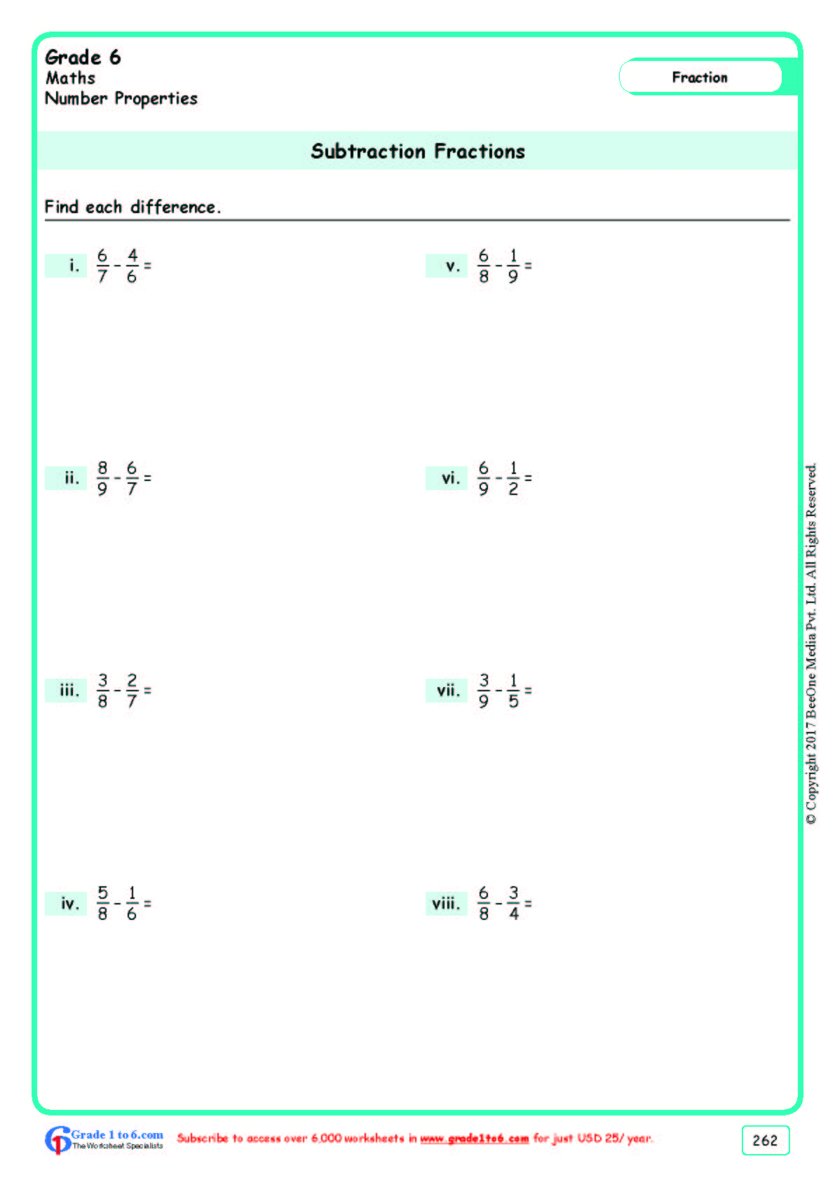 Bodmas Worksheets For Grade 6 Cbse