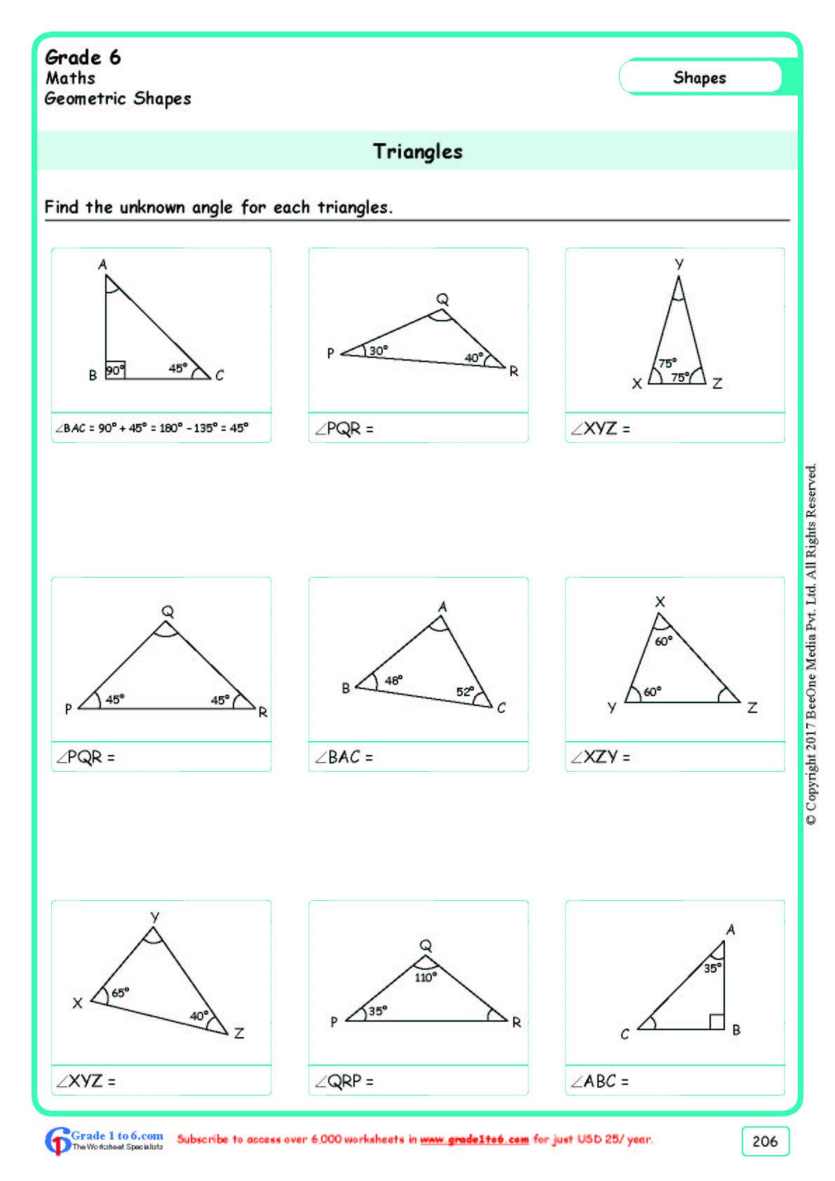 Free Math Worksheets For Grade 6 Class 6 Ib Cbse Icse K12