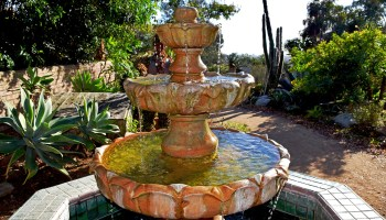 fountain at San Diego Botanic Garden in Encinitas, California