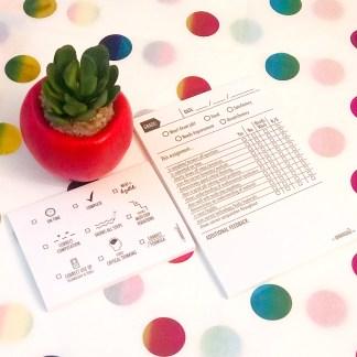 Math Grading Sticky Notes
