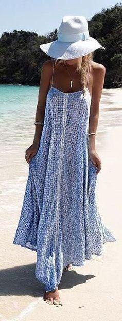 дългата плажна рокля