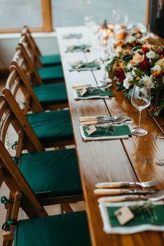 идеи за украса за зелена зимна сватба