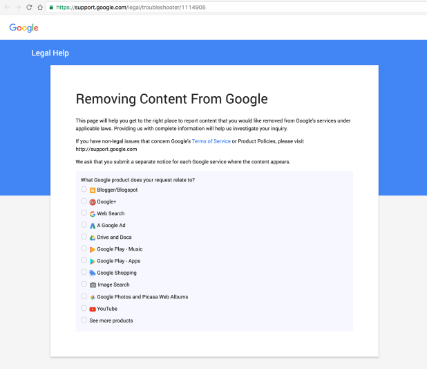 remove-content-from-google