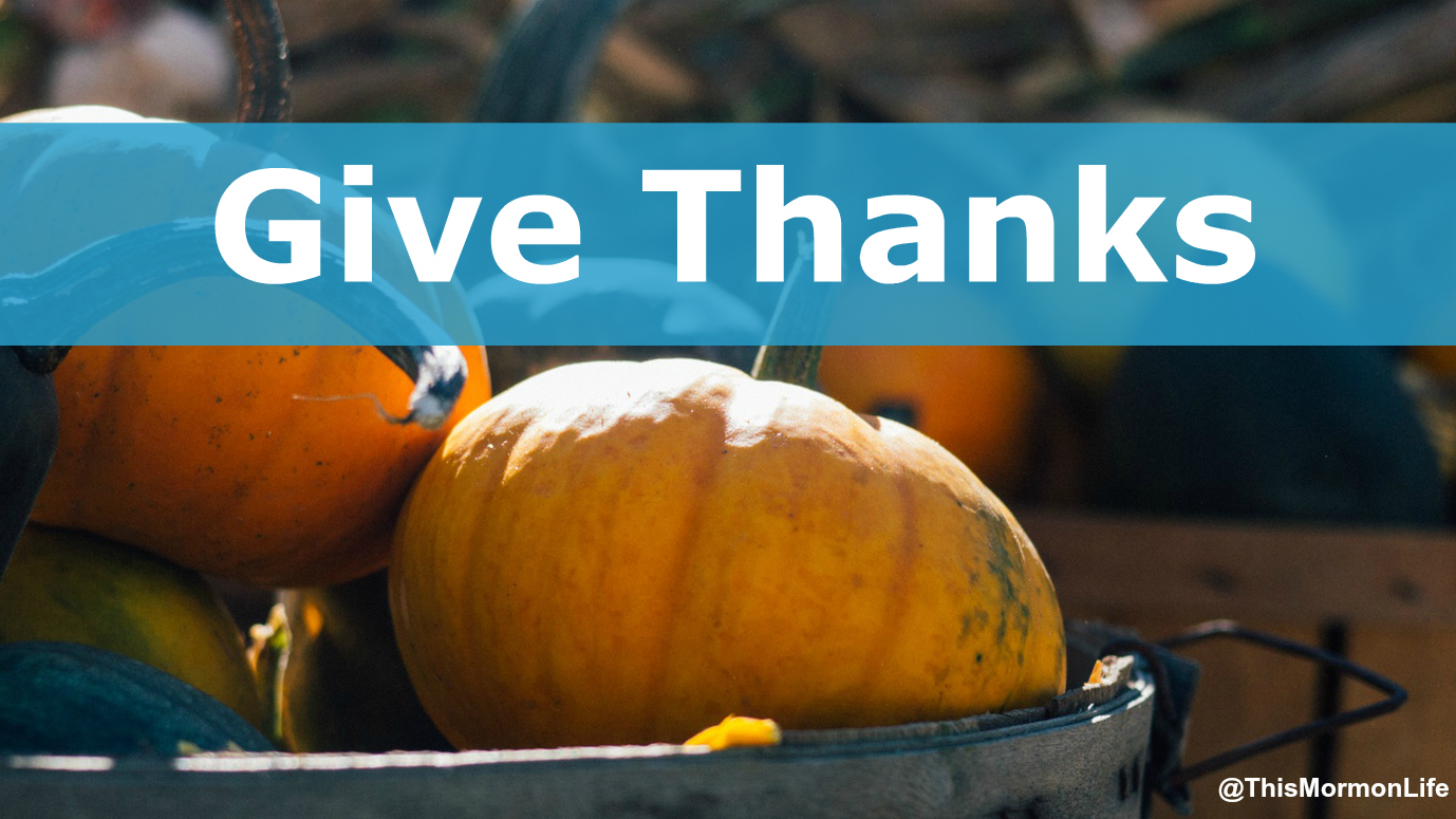 Celebrate Thanksgiving by Giving Thanks