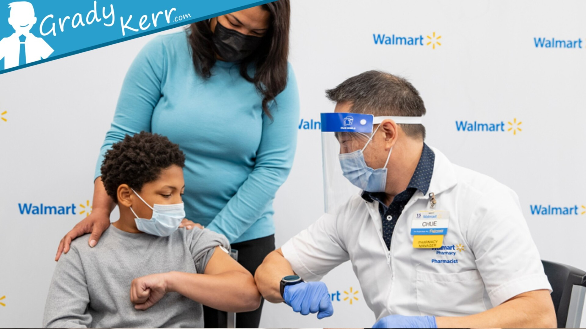 Boy Getting COVID Vaccine Dose Administered - GradyKerr.com