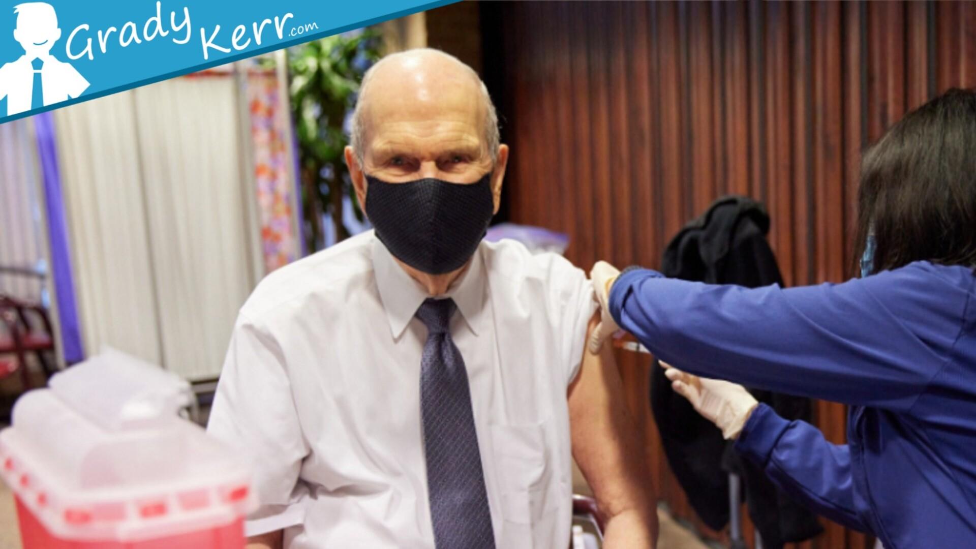 President Nelson COVID Vaccine Dose Administered - GradyKerr.com