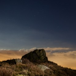 Playing with light at Ashover Rock, Derbyshire