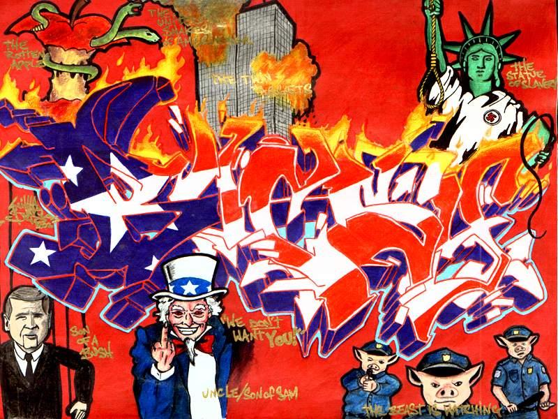 Bugsy - Toronto - Canada - anti-war graffito - 2004