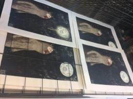 completed Werewolf prints drying