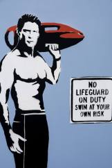 No Lifeguard On Duty Canvas