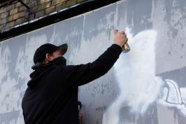 GraffitiStreet paints the Shoreditch Art Wall