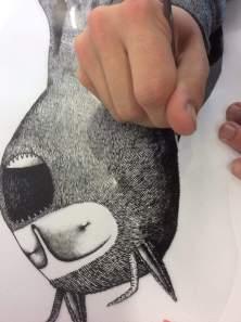 Bisser etches the werewolf