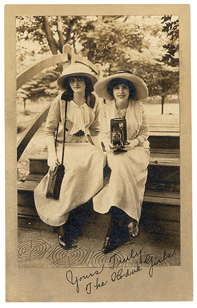 Yours Truly, The Kodak Girls: Postmarked 1913 Hamilton, Canada Martha Cooper Collection, 2011