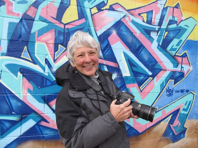 Martha Cooper 2014. Photo by Sally Levin.