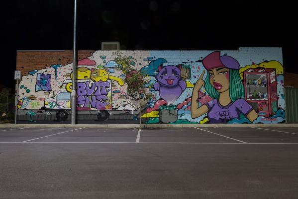 Buttons Wall to Wall Festival Benalla Photo © p1xels