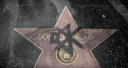 Pøbel mutes Donald Trumps Walk of Fame Photo capture © Pøbel video