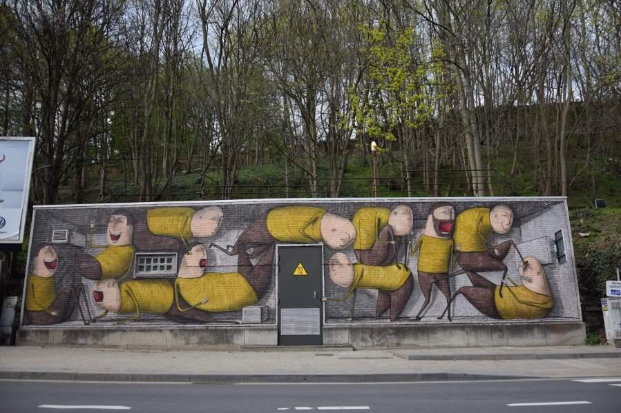 Bisser street art in Leuven