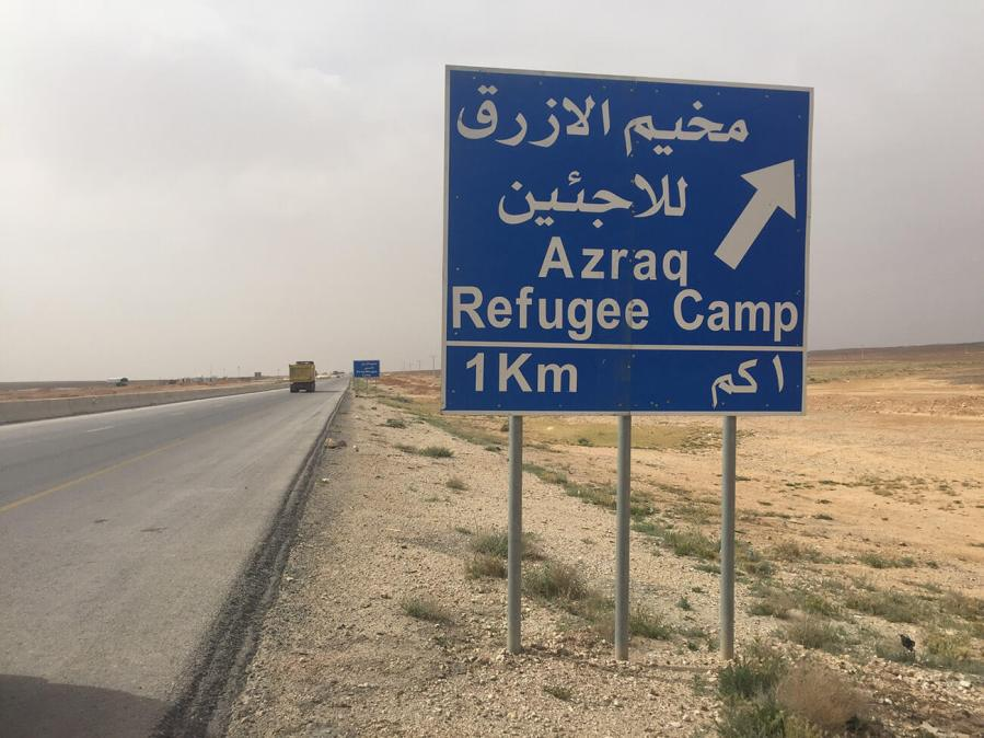 Pejac at Azraq Refugee Camp 'Mothers Artists' Photo @ Pejac