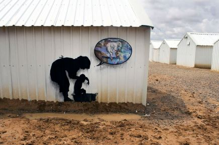 Pejac at Azraq Refugee Camp 'Mothers Artists' Photo @ Pejac