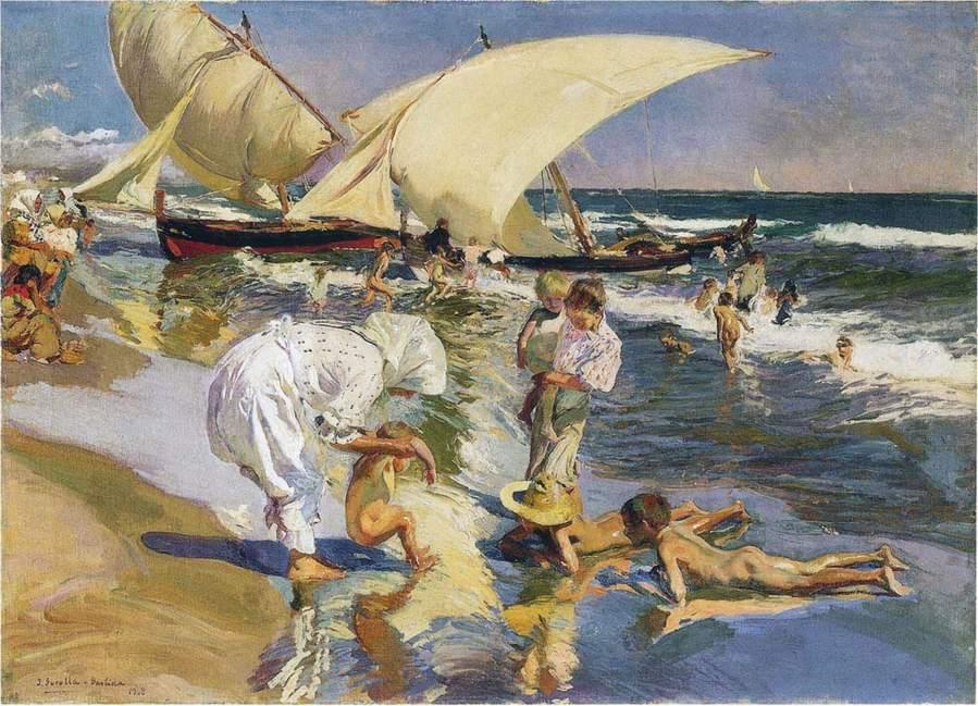 -Sorolla | Playa de Valencia a la Luz de la Mañana | 1908