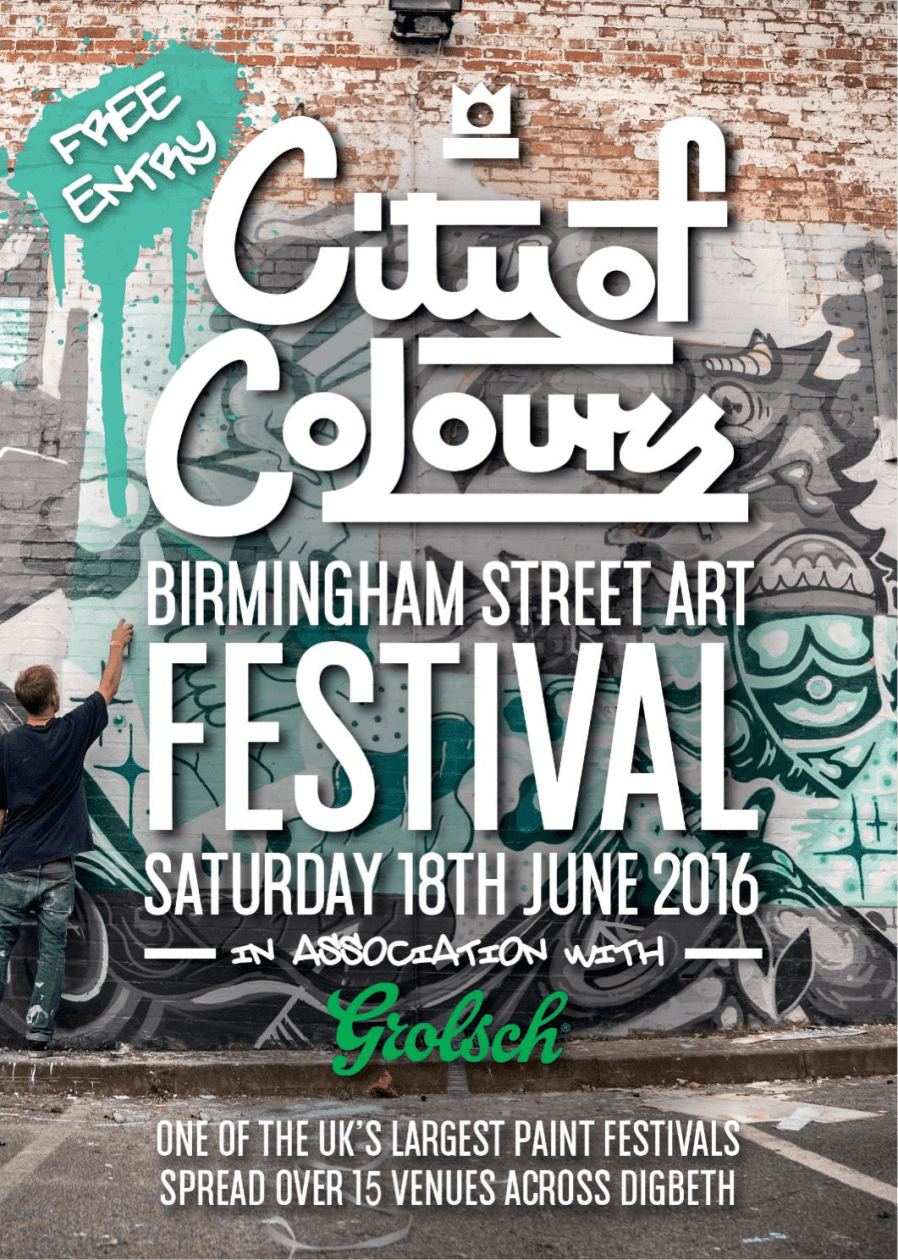City of Colours Street Art Festival Digbeth