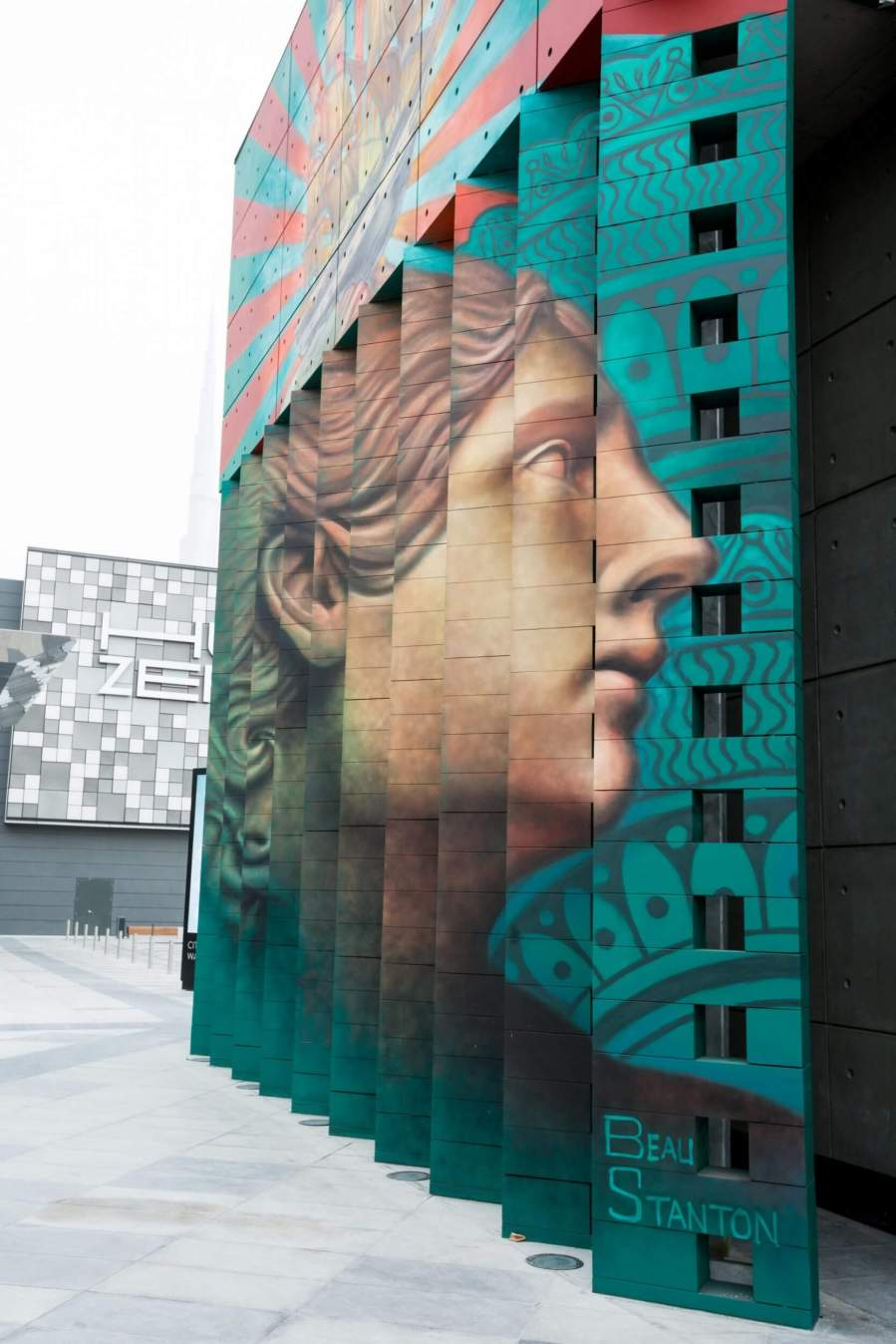 Graffiti wall uae - Beau Stanton Dubai Walls Street Art Festival
