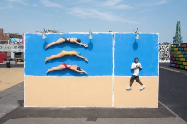 John Ahearn Coney Art Walls NYC Photo © Martha Cooper