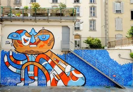 Pablito Zago, 10eme Street Art Festival, Aurillac, France Photo © Jérôme Thomas