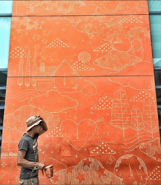 Yoskay Yamamoto, RFK Street Art Mural Photo © Chicken speak