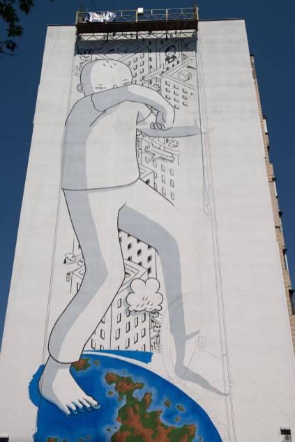 Millo, Mural Social Club Street Art Festival, Kiev. Photo credit Maksim Belousov
