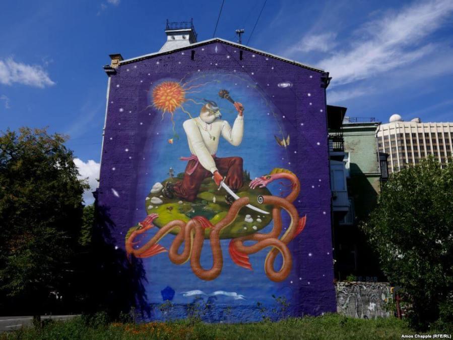 Interesni Kazki street art kiev photo credit Amos Chapple:Radio Free Europe