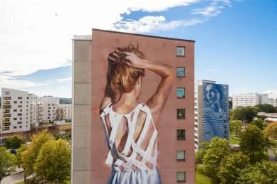 JARUS with RONE Artscape Gothenburg Street Art Festival 2016. Photo Credit Fredrik Åkerberg