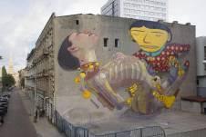 Os Gemeos & Aryz, Urban Forms street art gallery, Lodz, Poland.
