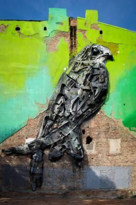 Bordalo II, Urban Forms street art gallery, Lodz, Poland