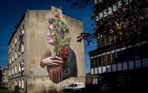 Etam Crew, Urban Forms street art gallery, Lodz, Poland.