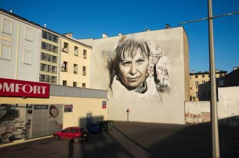 Guido van Helten, Urban Forms street art gallery, Lodz, Poland. Photo credit B. Błędowski